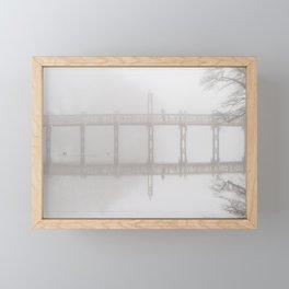 Waiting in the Fog Framed Mini Art Print