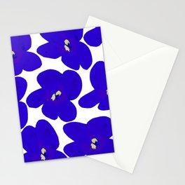 Blue Retro Flowers #decor #society6 #buyart Stationery Cards