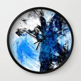 Static Blue Wall Clock