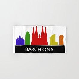 barcelona skyline Hand & Bath Towel