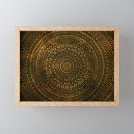 Lime Brown Boho Mandala || Manafold Art Framed Mini Art Print