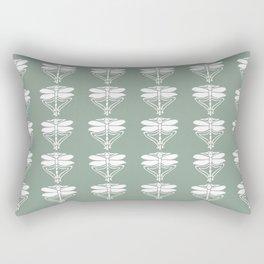 Pewter Arts and Crafts Dragonflies Rectangular Pillow