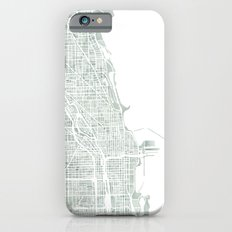 Map Chicago city watercolor map Slim Case iPhone 6