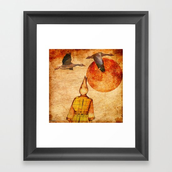 wild goose and Victor Framed Art Print
