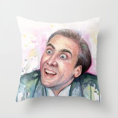 Nicolas Cage You Don't Say Geek Meme Nic Cage Throw Pillow