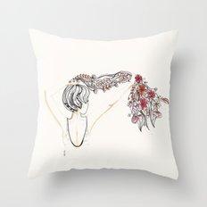rose shower Throw Pillow