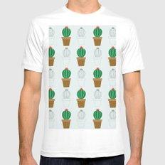 C13D Cactus Mens Fitted Tee MEDIUM White