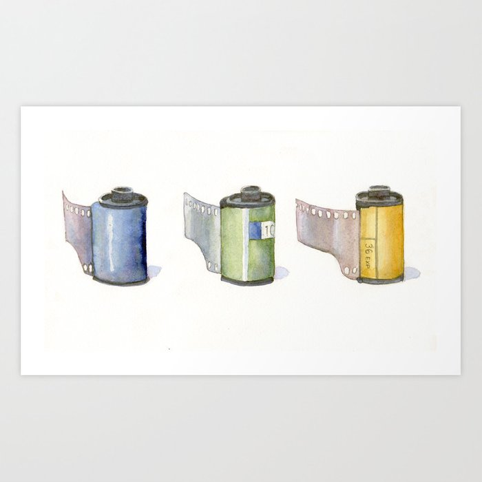 Film Canisters Art Print