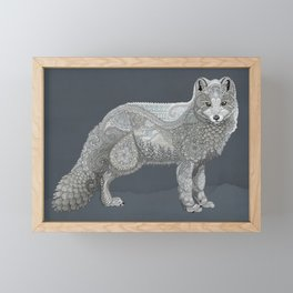 Arctic Fox Framed Mini Art Print