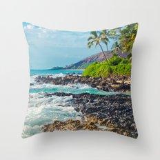 Paako Beach Blue Sensation Throw Pillow
