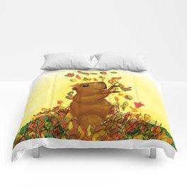 Happy Groundhog Comforters