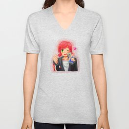 Mass Effect - Shepard with Garrus Doll Unisex V-Neck