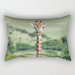 Giraffe Standing tall Rectangular Pillow