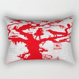 Fairy Tale Tree Note Print Rectangular Pillow