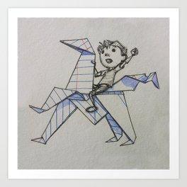 Doodle Boy Art Print