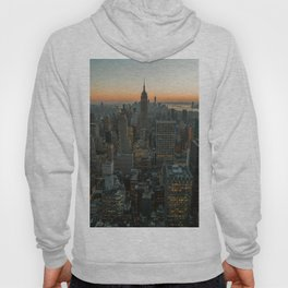 New York Skyline - Manhattan Night Hoody