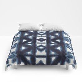 Blue Pima Shibori Comforters