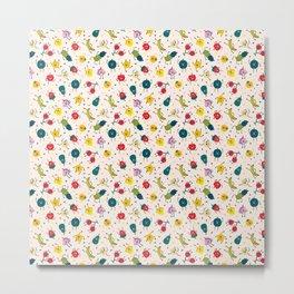 Happy fruits pattern Metal Print