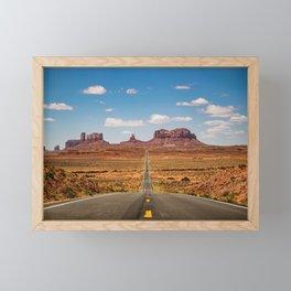 On the Open Road - Monument Valley Framed Mini Art Print