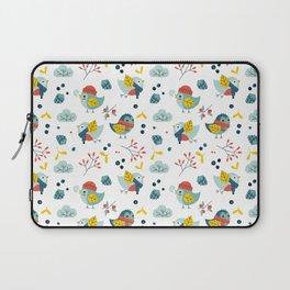 winter birds pattern Laptop Sleeve