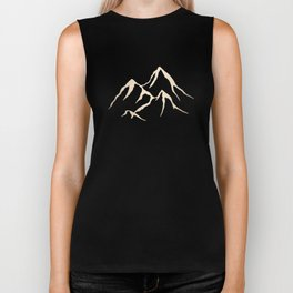 Adventure White Gold Mountains Biker Tank
