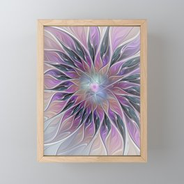 Fantasy Flower, Colorful Abstract Fractal Art Framed Mini Art Print