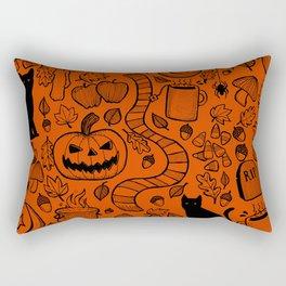 October Pattern- Black & Orange Rectangular Pillow