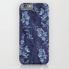 Blue Flower Pattern Slim Case iPhone 6s
