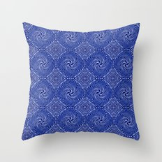 Muster - blauer Sturm Throw Pillow