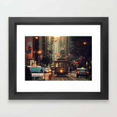 Cable car - San Francisco, CA Framed Art Print