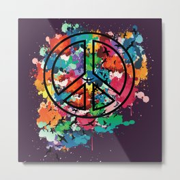 Peace & Freedom Metal Print
