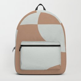 Sand Storm Beige Ultra Pale Gray Circle Design 2 2021 Color of The Year Canyon Dusk and Tinsmith Backpack