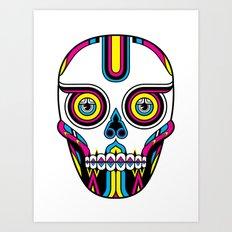 CMYK Skull Art Print
