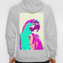 Exotic Neon Colorful Parrot Bird Hoody