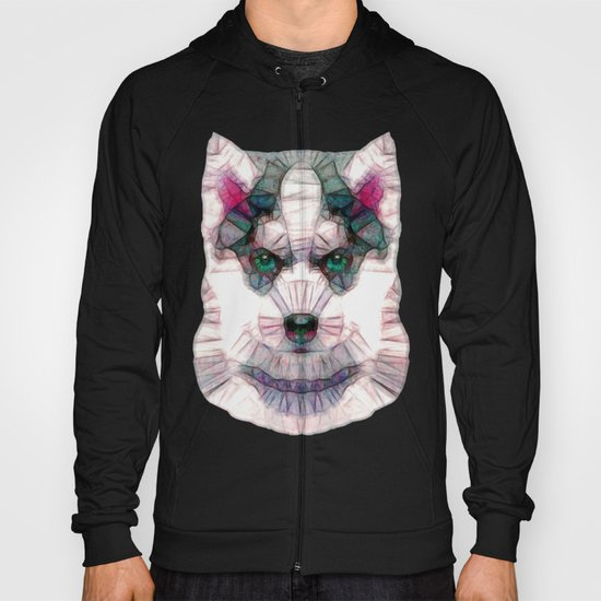 abstract husky puppy Hoody