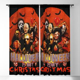 Horror movie halloween is my christmas Blackout Curtain