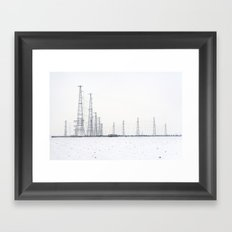 towers and wires Framed Art Print