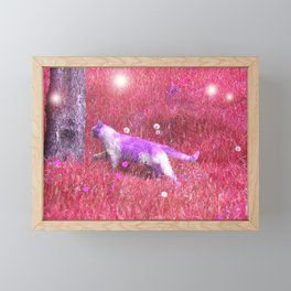 Purple Kitty Framed Mini Art Print