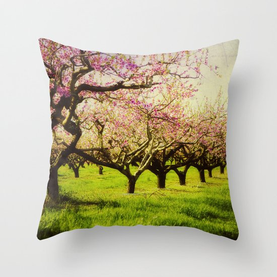 Orchard play Throw Pillow