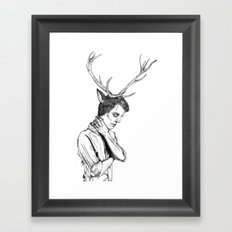 Stag Boy Framed Art Print