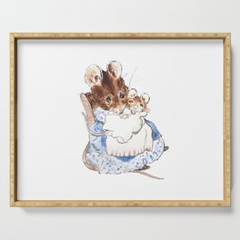 Mrs Mouse and baby Peter Rabbit  Beatrix Potter Serving Tray