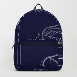 Grand Piano Patent - Midnight Blue Backpack