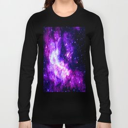 Purple Galaxy : Celestial Fireworks Long Sleeve T-shirt