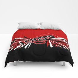 Dark Red Cheerleader Spirit Comforters