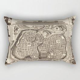 Map of Jerusalem (Ierusalem) circa 1770 Rectangular Pillow