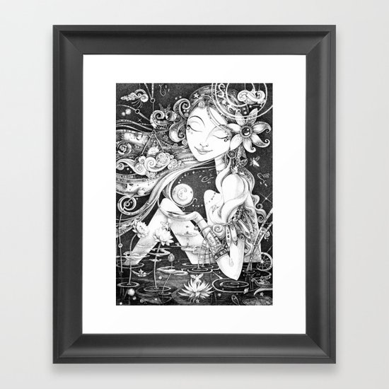Ma Bella Luna Framed Art Print