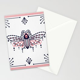 Death's Head Hawkmoth – Blush & Navy Palette Stationery Cards