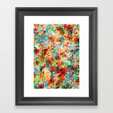 Flower Fight Framed Art Print