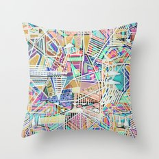 Geometric Abstract Lines Labirinth  Throw Pillow