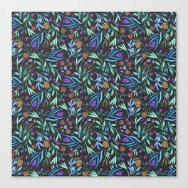 Watercolor floral bouquet pattern Canvas Print